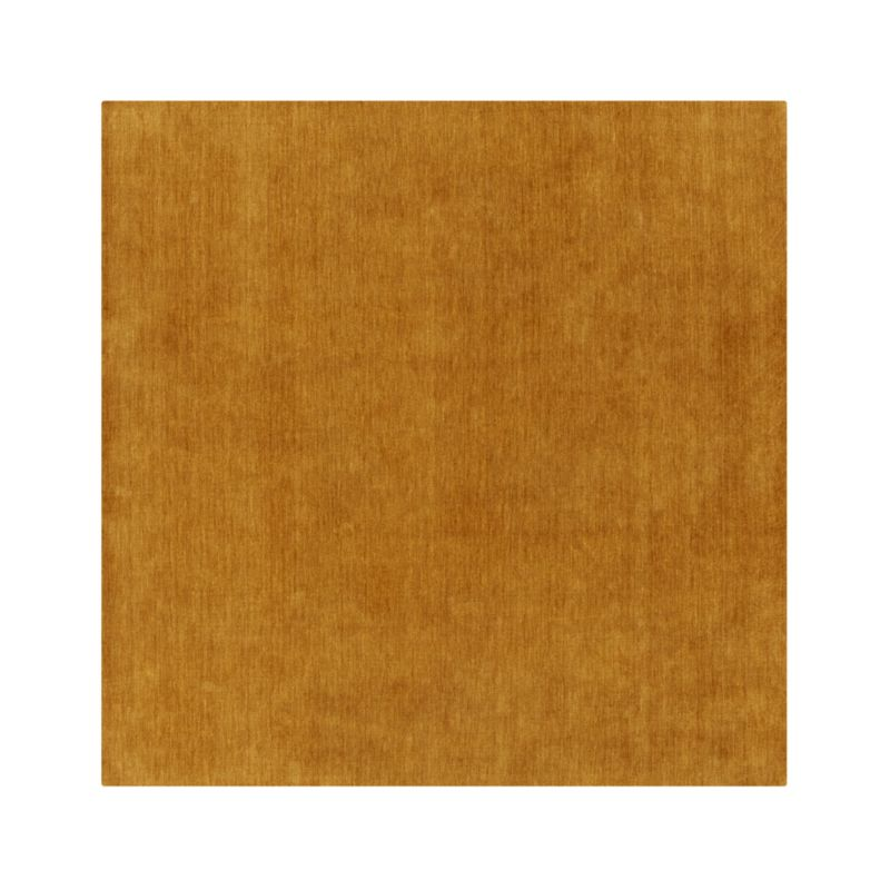 Baxter Gold Yellow Wool 8 39 Sq Rug Crate And Barrel