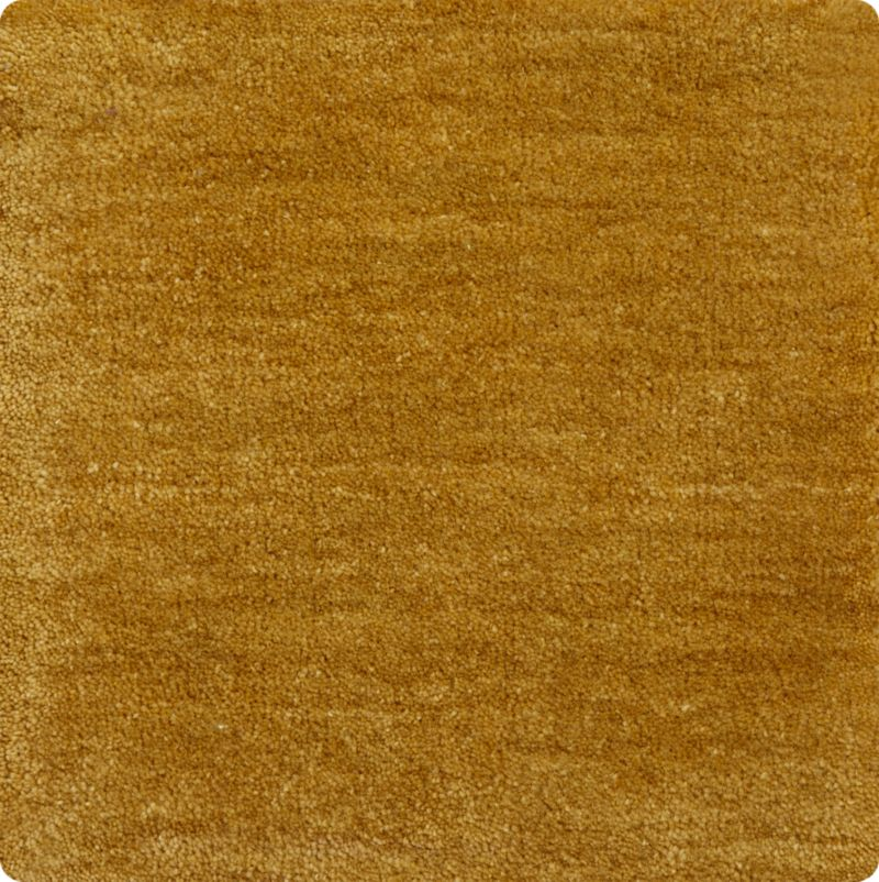 """Baxter Gold Yellow Wool 12"""" sq. Rug Swatch"""