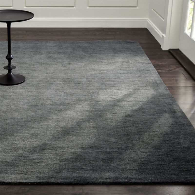 Baxter Grey Wool Rug Crate And Barrel