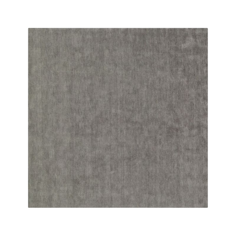 Baxter Grey Wool 8' Square Rug