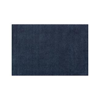 Baxter Indigo Blue Wool 5'x8' Rug