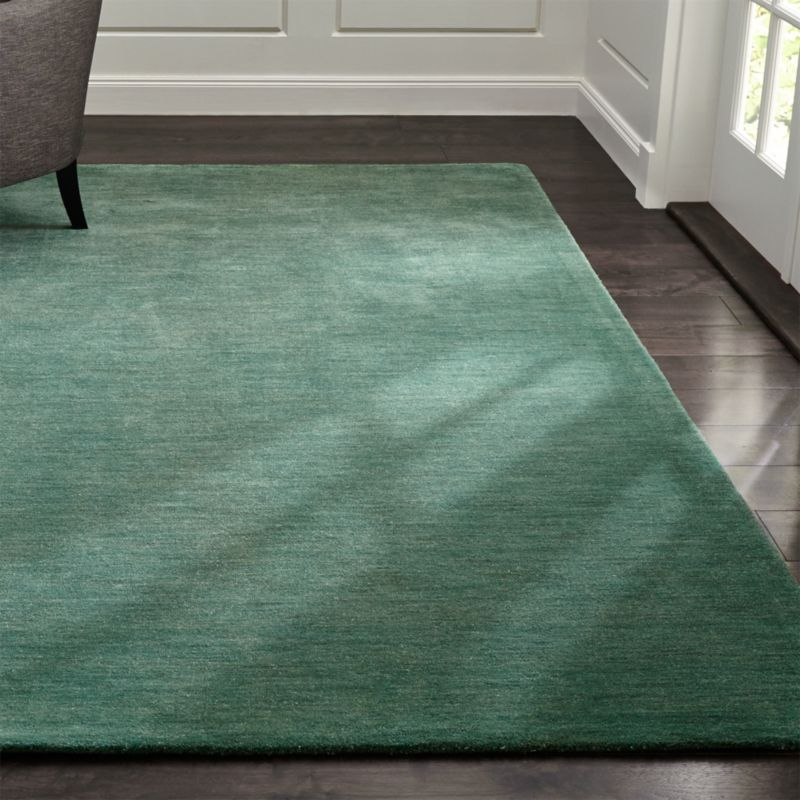 Baxter Jade Green Wool Rug Crate And Barrel