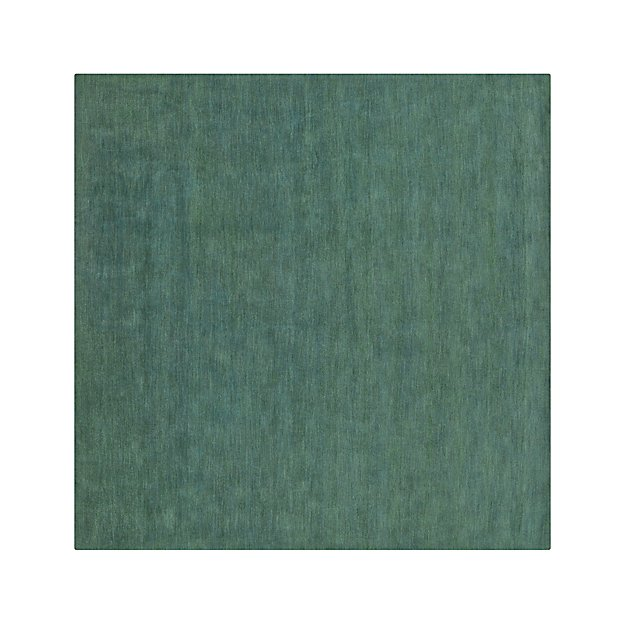 Baxter Jade Green Wool 8' Sq. Rug