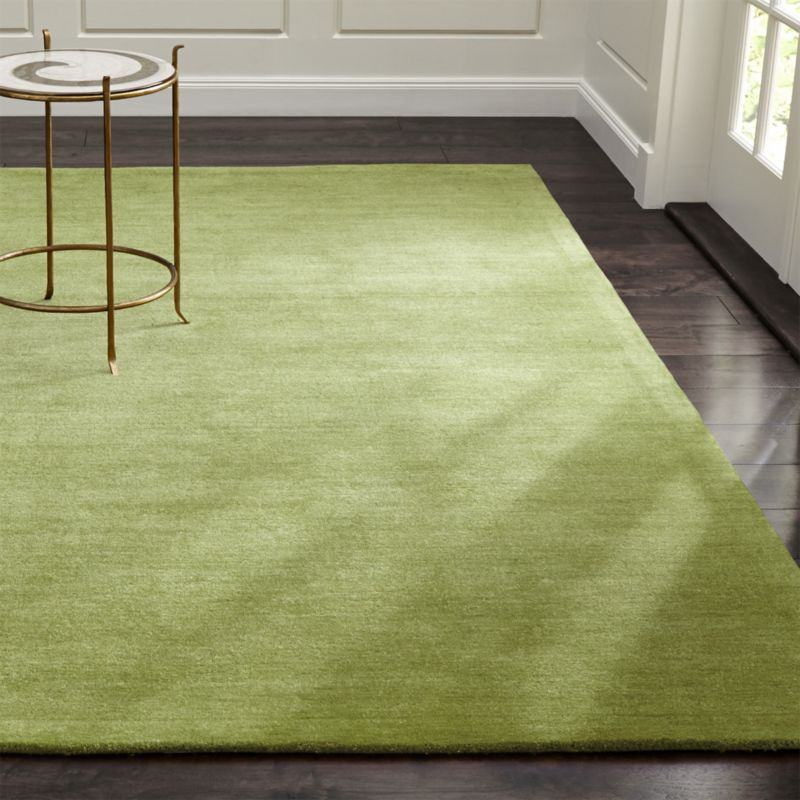 Baxter Lemongrass Green Wool Rug Crate And Barrel