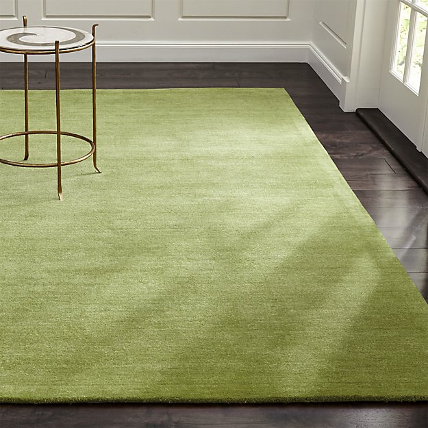 Baxter Lemongrass Green Wool Rug