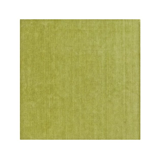 Baxter Lemongrass Green Wool 8' Sq. Wool Rug