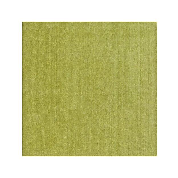 Baxter Lemongrass Green Wool 8' sq. Wool Rug