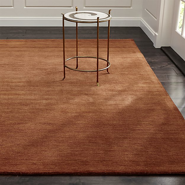 Baxter Marigold Orange Wool Rug Crate And Barrel