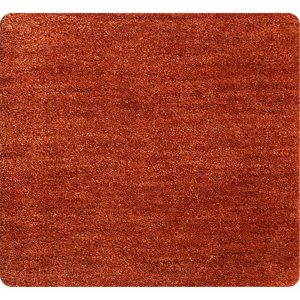 "Baxter Marigold Orange Wool 12"" sq. Rug Swatch"