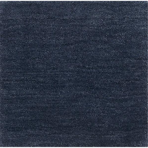 """Baxter Indigo Blue Wool 12"""" sq. Rug Swatch"""