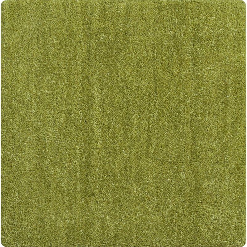 """Baxter Lemongrass Green Wool 12"""" sq. Rug Swatch"""