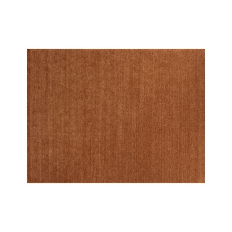 Baxter Marigold Orange Wool 9 X12 Rug Crate And Barrel