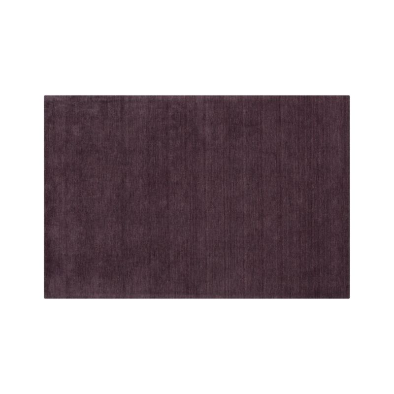 Baxter Plum Purple Wool 5x8 Rug