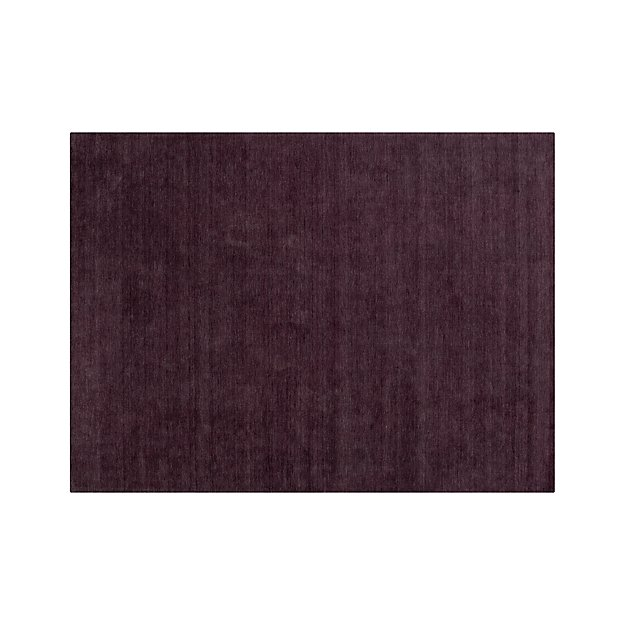 Baxter Plum Purple Wool 10 X14 Rug Crate And Barrel