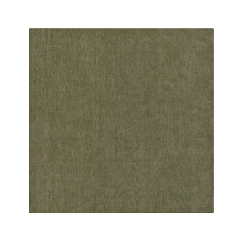 Baxter Sage Wool 8 39 Sq Rug Crate And Barrel