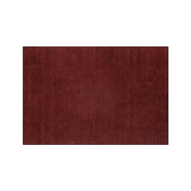 Baxter Wine Red Wool 6'x9' Rug
