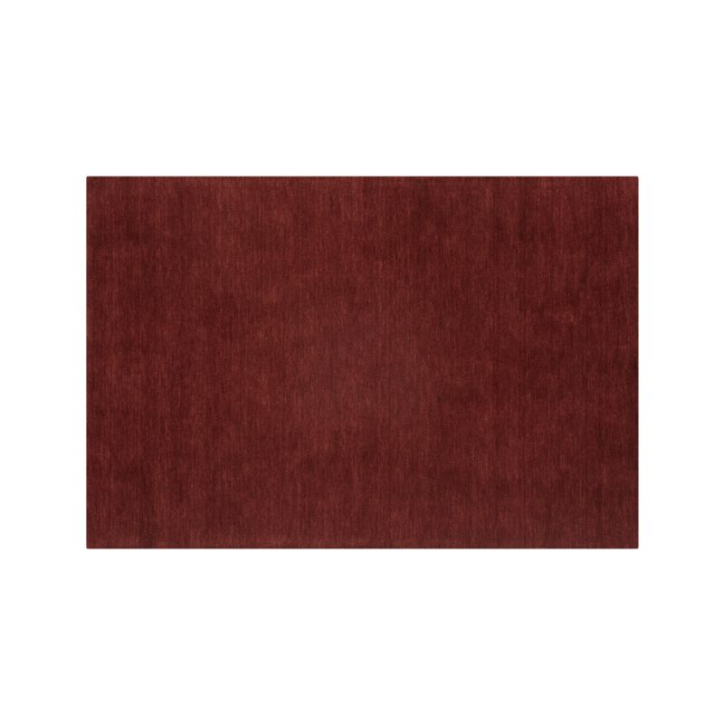 Baxter Wine Red Wool 10'x14' Rug