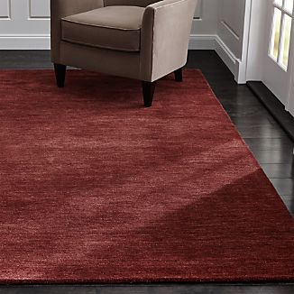 Baxter Wine Red Wool Rug