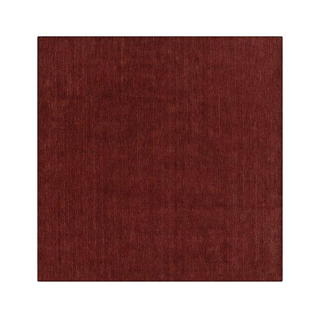 Baxter Wine Red Wool 8' sq. Rug