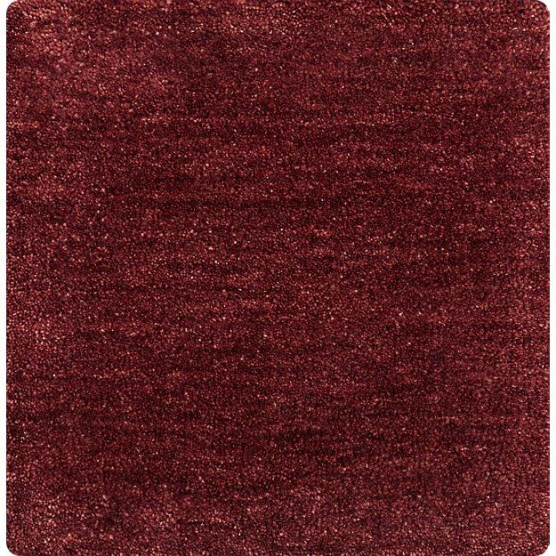 Baxter Wine Red Wool 12'x12' sq. Rug Swatch