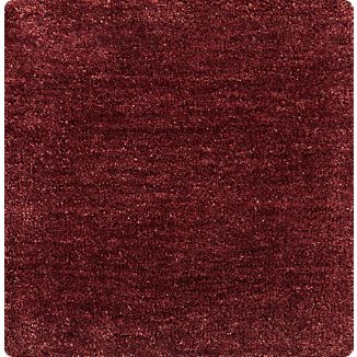 Baxter Wine Red Wool 12'x12' sq. Rug Swatch