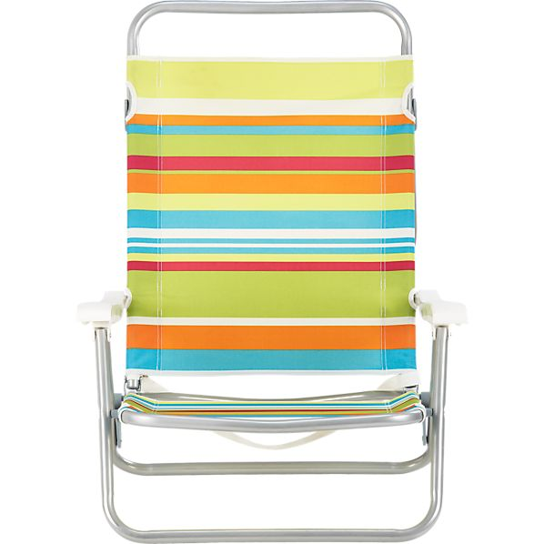 Beach Stripe 3-Position Sand Chair