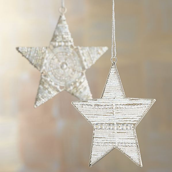 Beaded Star Ornaments
