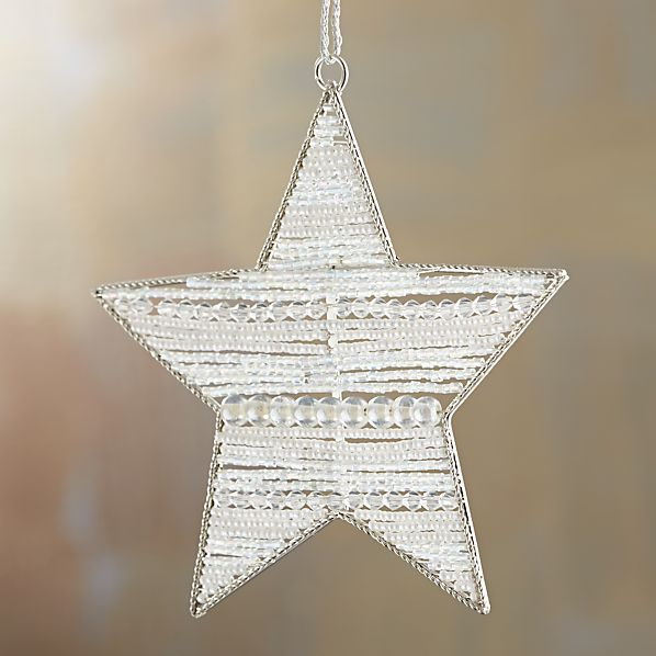 Horizontal Stripe Beaded Star Ornament