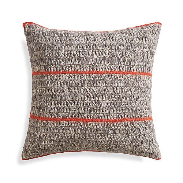 "Beasley Orange 20"" Pillow with Down-Alternative Insert"