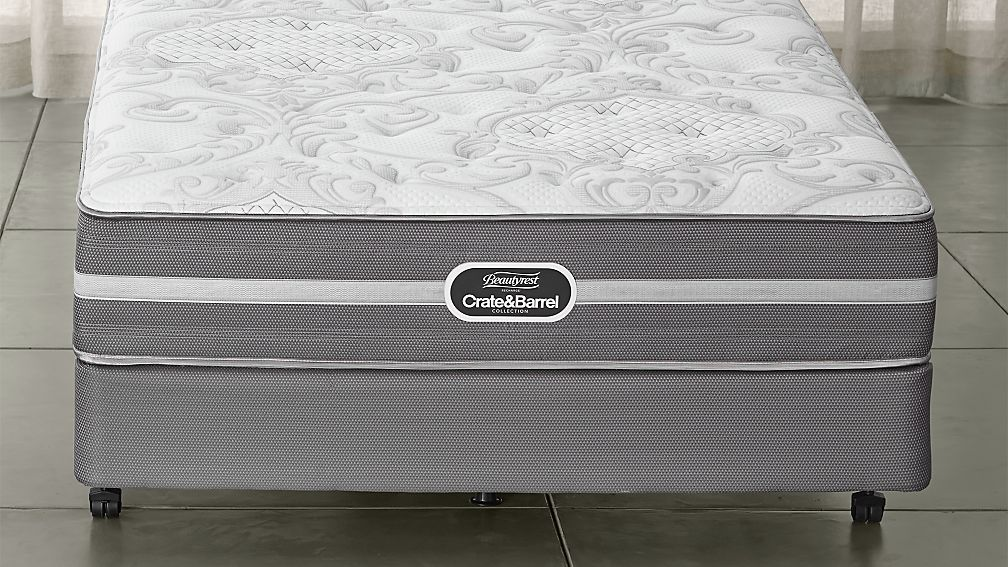 Simmons Twin Beautyrest Plush Mattress Crate And Barrel