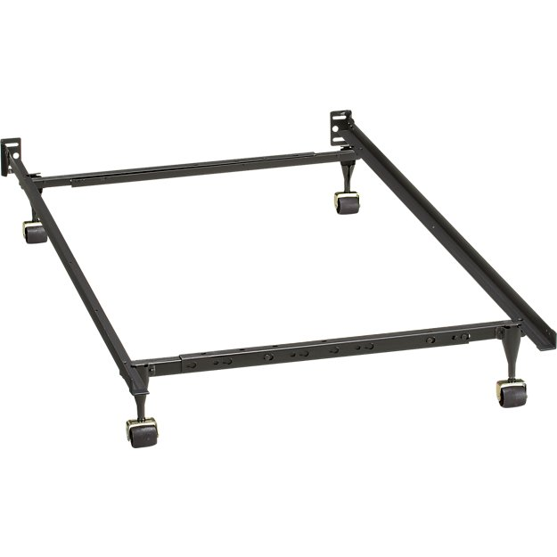 Twin-Full Bed Frame + Reviews | Crate and Barrel