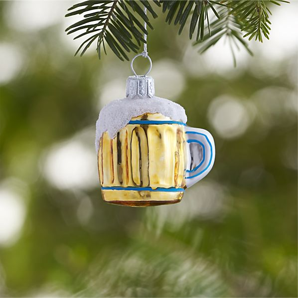 Glass Beer Stein Ornament In Ornaments Crate And Barrel