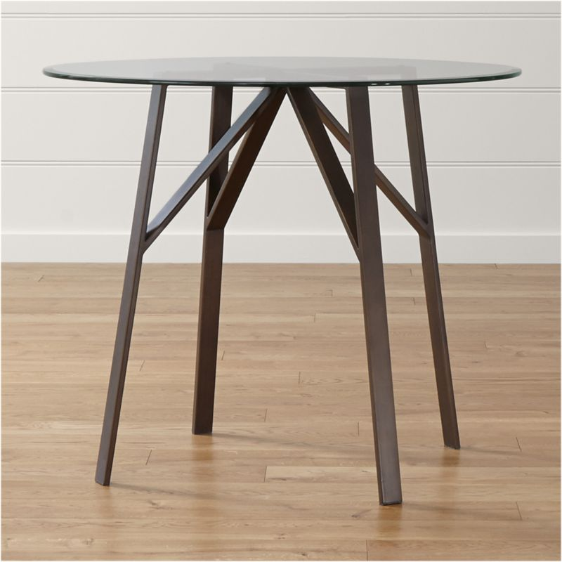 """High Round Dining Table: Belden Round High Dining Table With 42"""" Glass Top"""