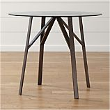 "Belden Round High Dining Table with 42"" Glass Top"