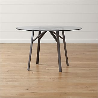 Belden Round Dining Tables with Glass Top
