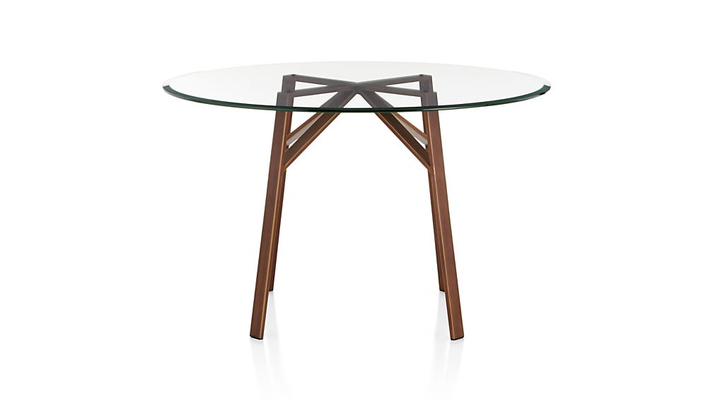 """Belden Round Dining Table with 48"""" Glass Top"""