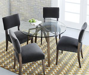 "Belden Round Dining Table with 42"" Glass Top"