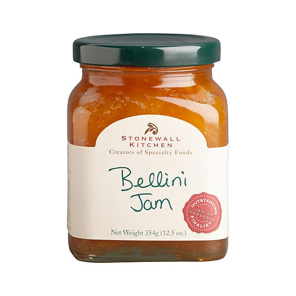 Bellini peach jam jar