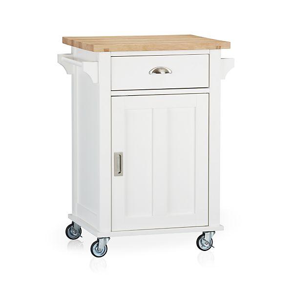 Belmont White Kitchen Cart