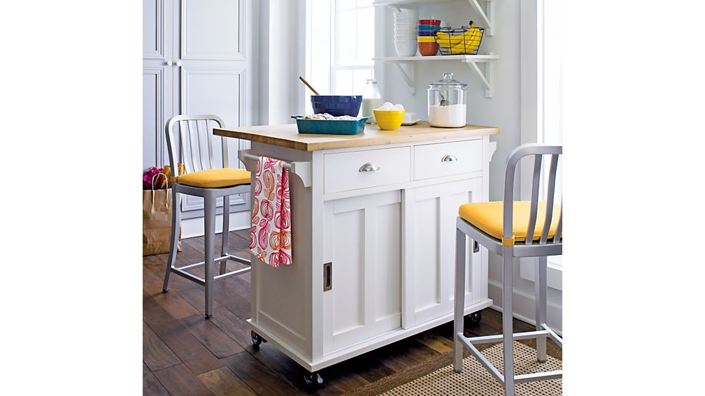 Crate And Barrel Belmont Kitchen Island White