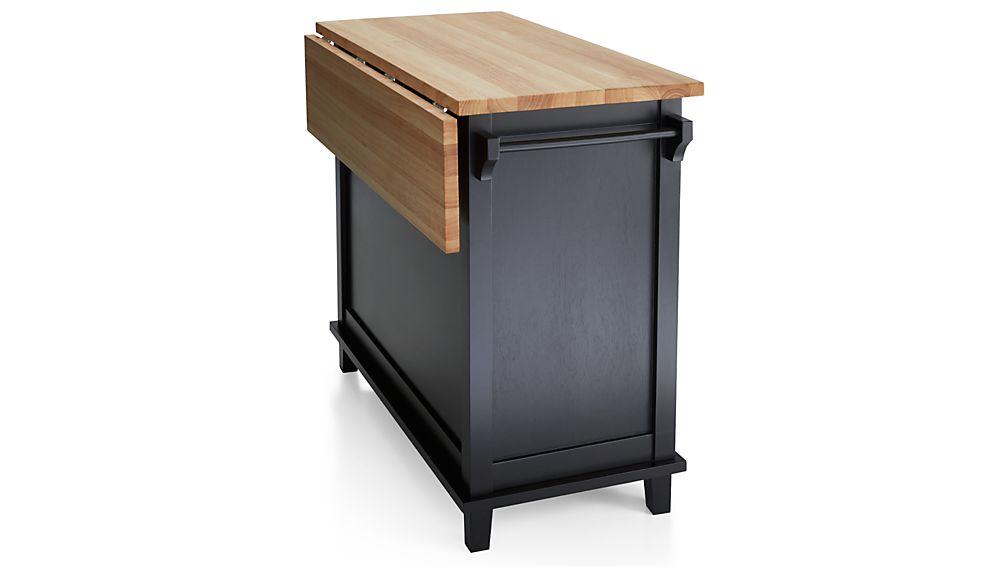 Crate And Barrel Butcher Block Kitchen Island : Belmont Black Kitchen Island Crate and Barrel