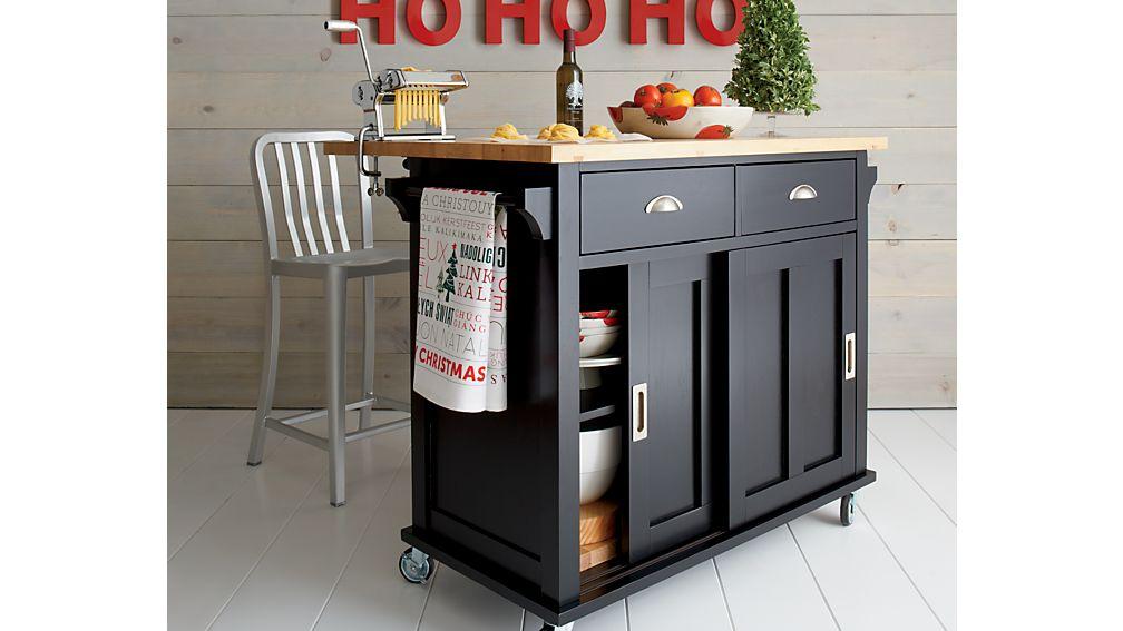 belmont black kitchen island crate and barrel