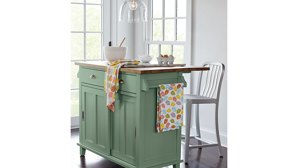 Crate And Barrel Belmont Table Belmont Mint Kitchen Island | Crate and Barrel