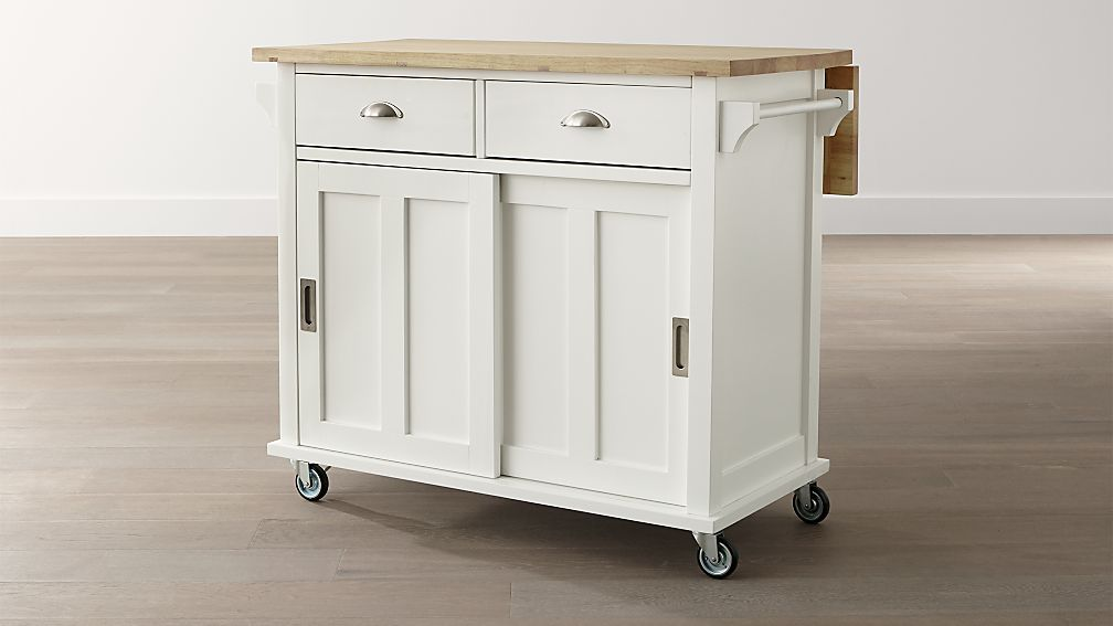 Belmont White Kitchen Island