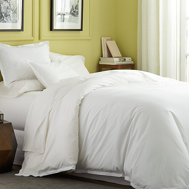 Belo White Duvet Covers and Pillow Shams