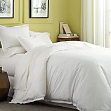 Belo White Twin Duvet Cover