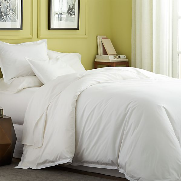 Belo white twin duvet cover for Crate barrel comforter