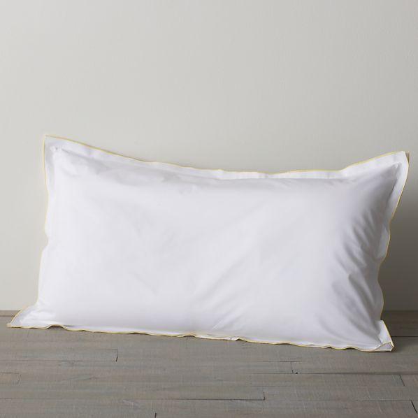 Belo Yellow King Double Flange Pillow Sham