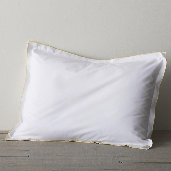 Belo Yellow Standard Double Flange Pillow Sham
