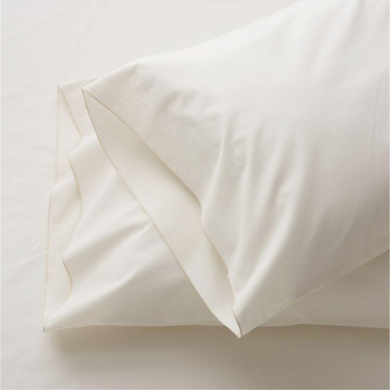 Set of 2 Belo Ivory Standard Pillow Cases